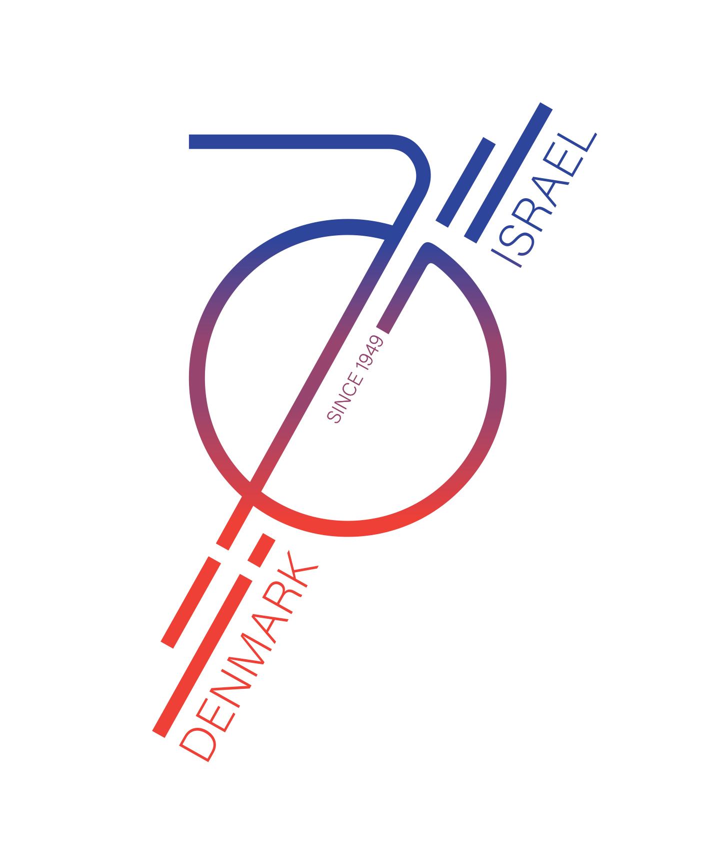 70th Anniversary logo for the danish - IsraEli Embassy - Case: Logodesign competition – Winner 2019