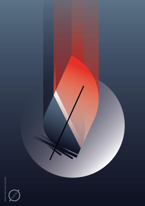Bleeding feather - Fragile bleeding feather from the