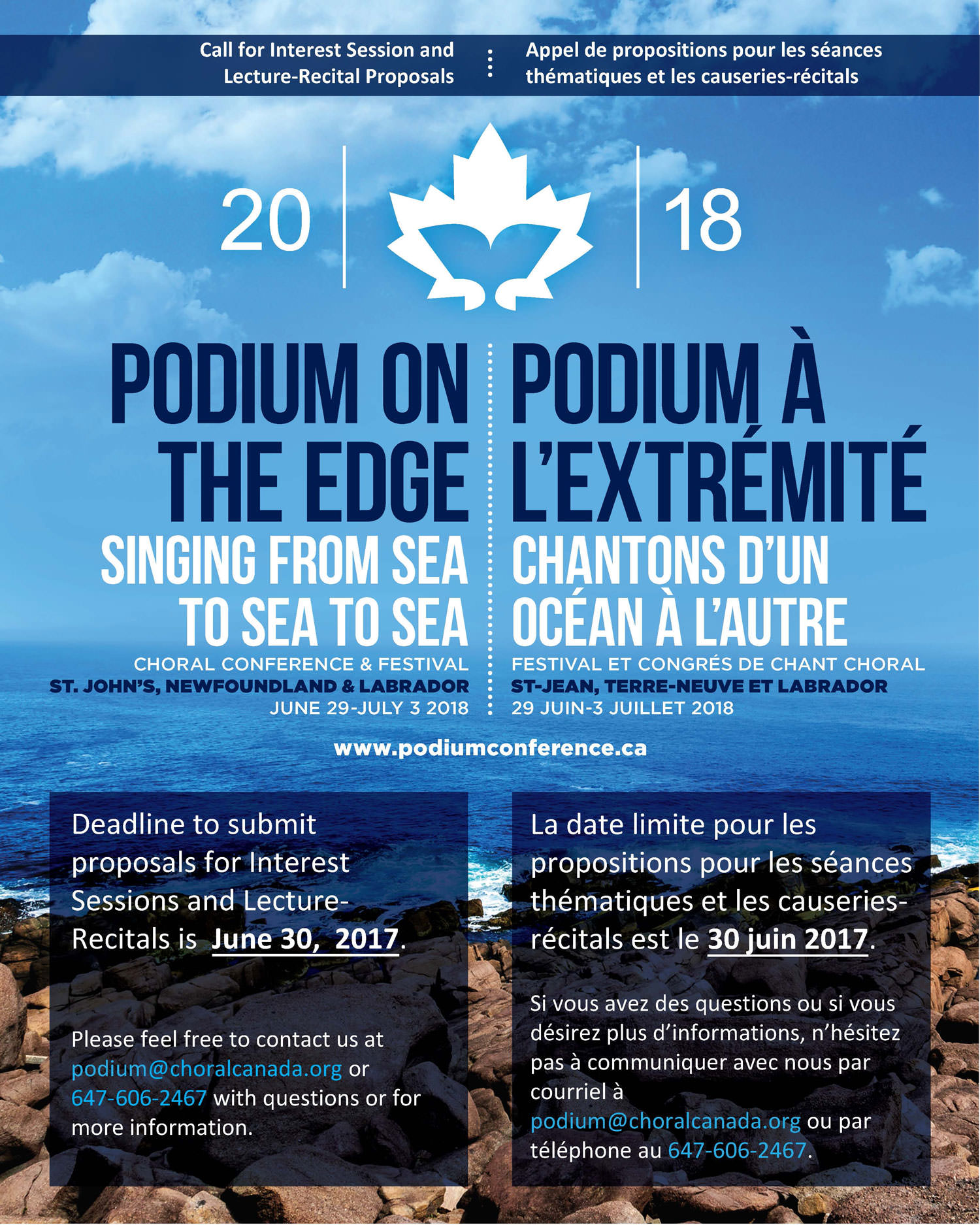 Podium 2018: Call for Interest Session and Lecture Recital Proposals