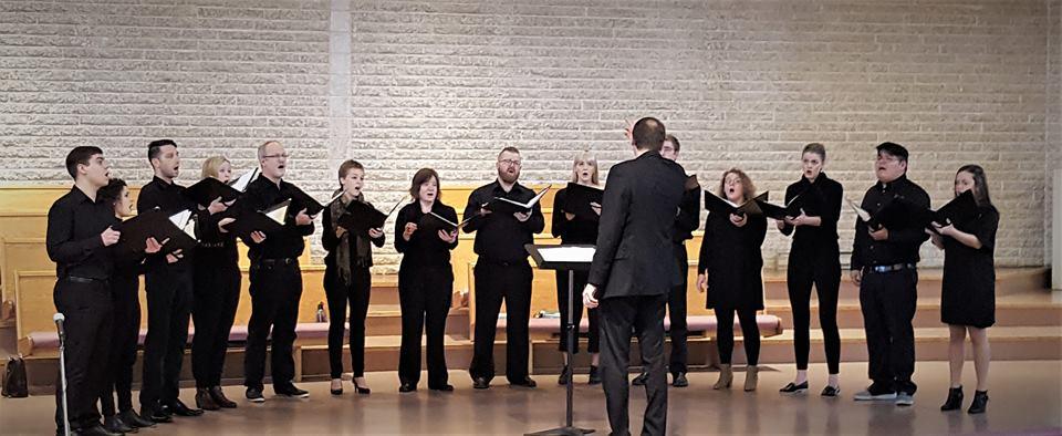 Exaudi Chamber Choir at  Sing for Peace 2018 , conducted by David Sawatzky.