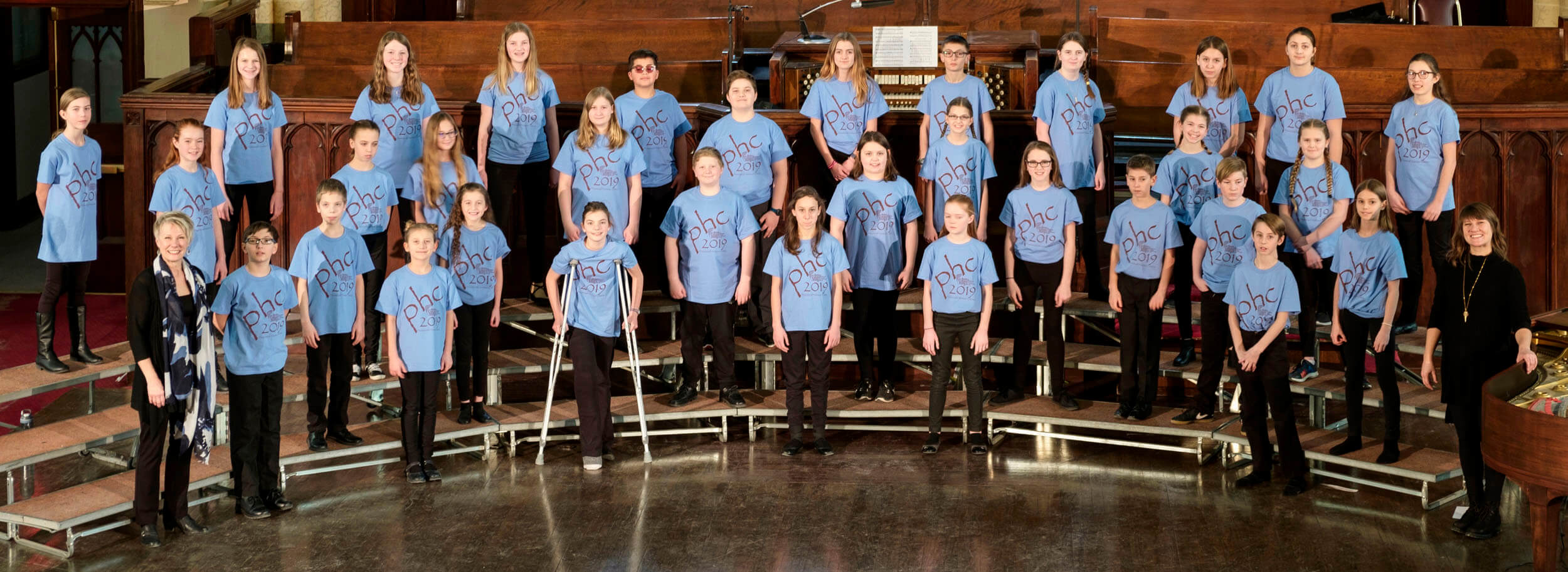 PHC 2019 JUNIOR CHOIR, Millie Hildebrand, conductor and Madeline Hildebrand, piano