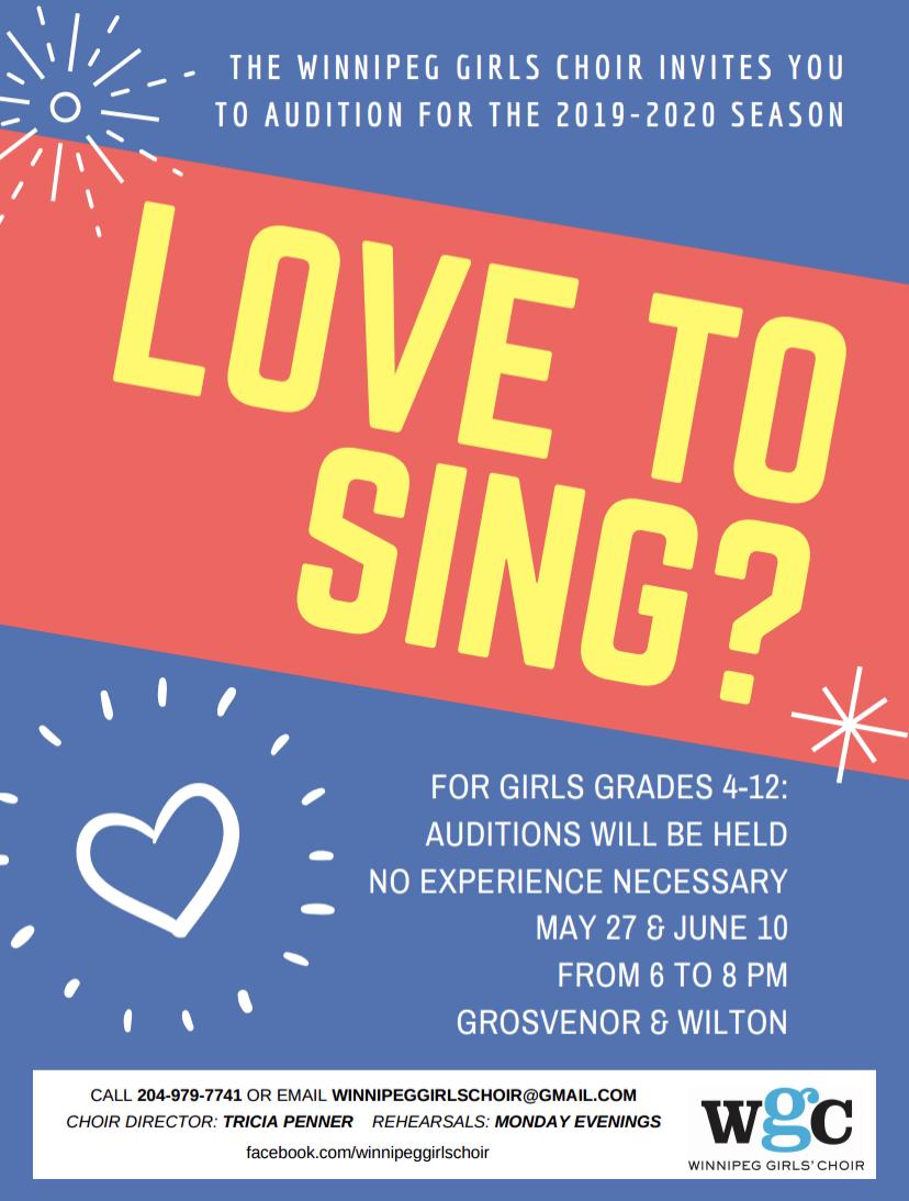 Winnipeg Girls' Choir Auditions
