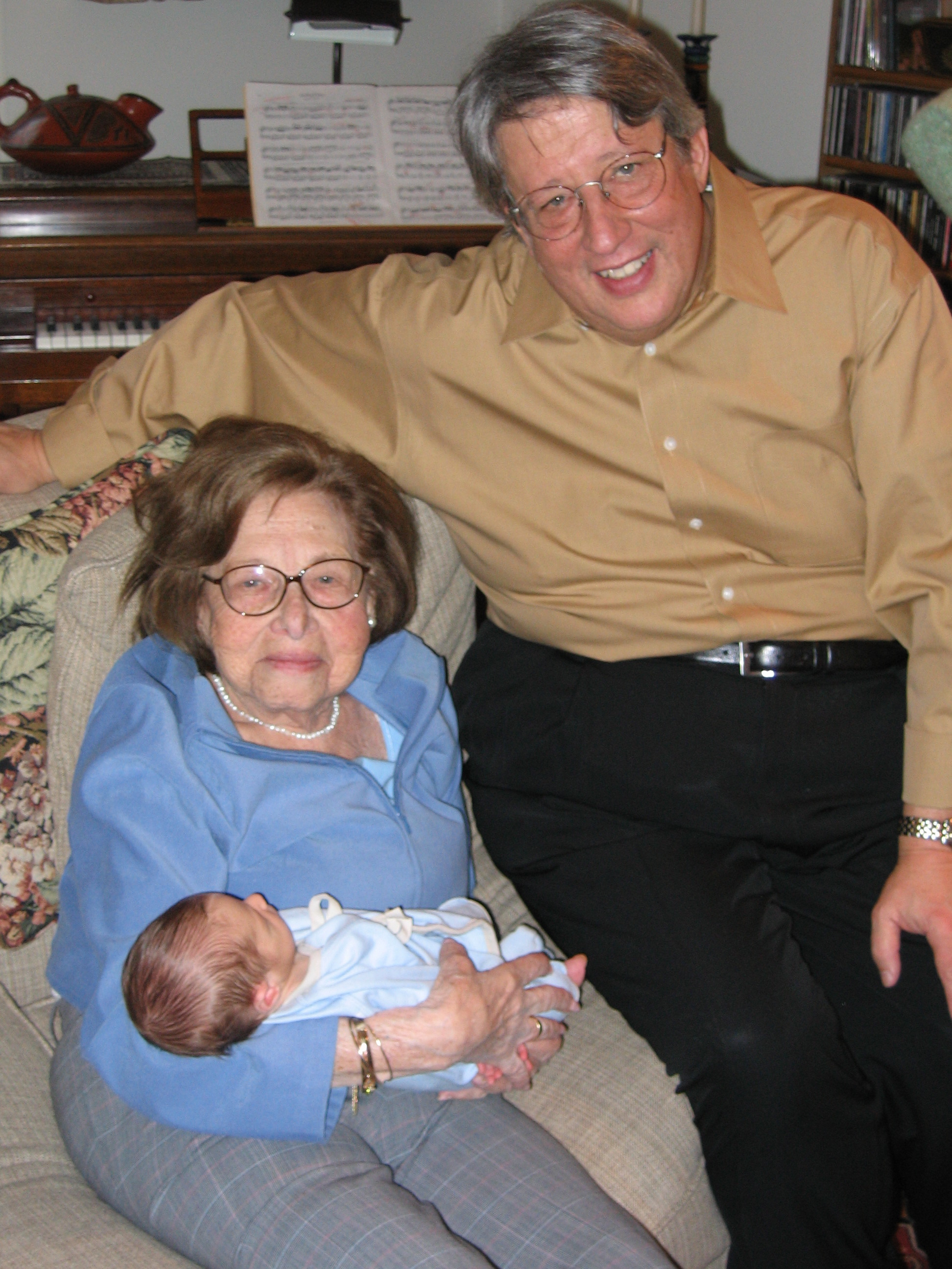 One of my favorite pictures ever - my father with his mother, Rose and my son