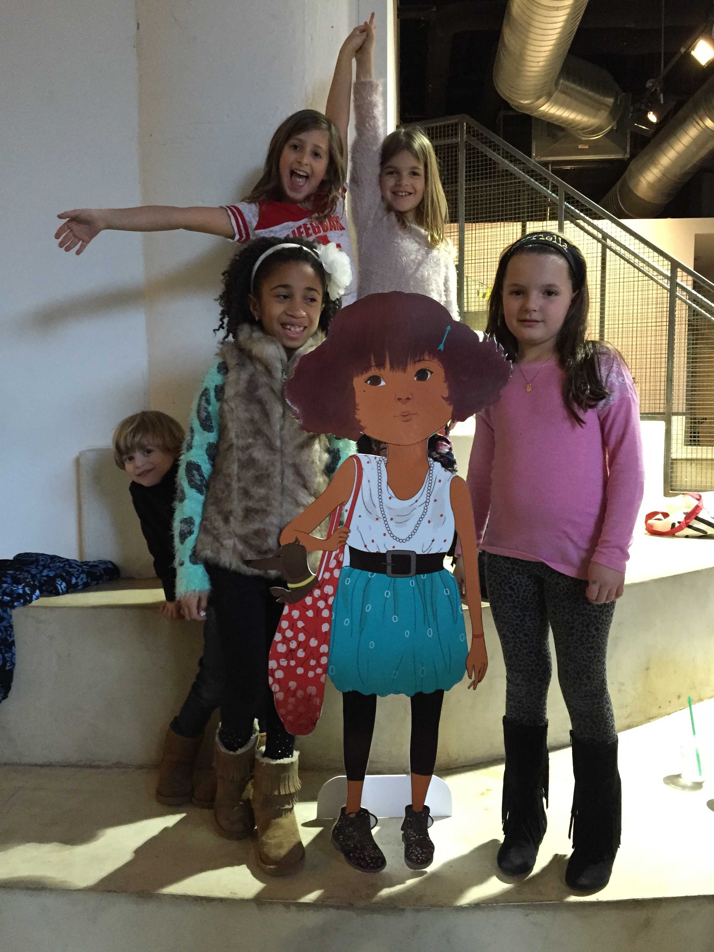 Fans pose with a life size Ella from Mallory's book. Photo courtesy of Mallory Kasdan