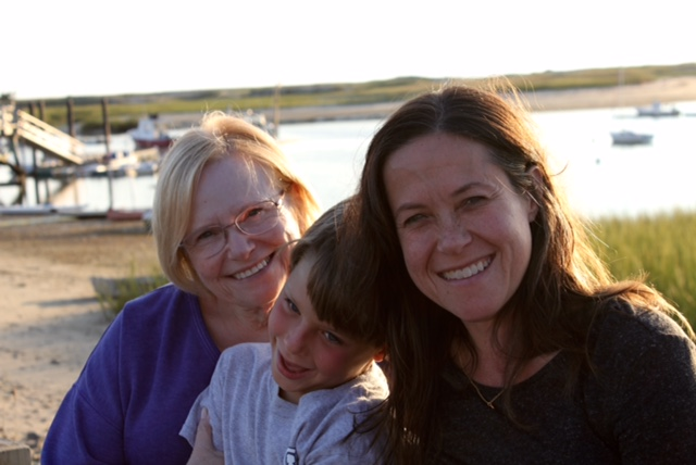 Our founder and executive producer, filmmaker Susannah Ludwig with her mom and her son.