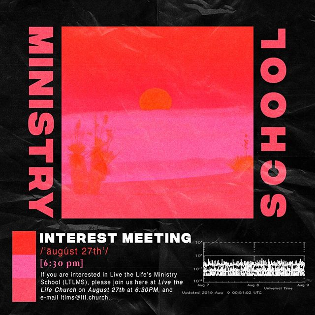 We are excited about our 2019-2020 school year! If you've ever wanted to further your education in biblical studies, be apart of hands on ministry training, and serve the local church, check out our interest meeting coming up! Link in bio 🤘🏼⚡️ #LTLMS