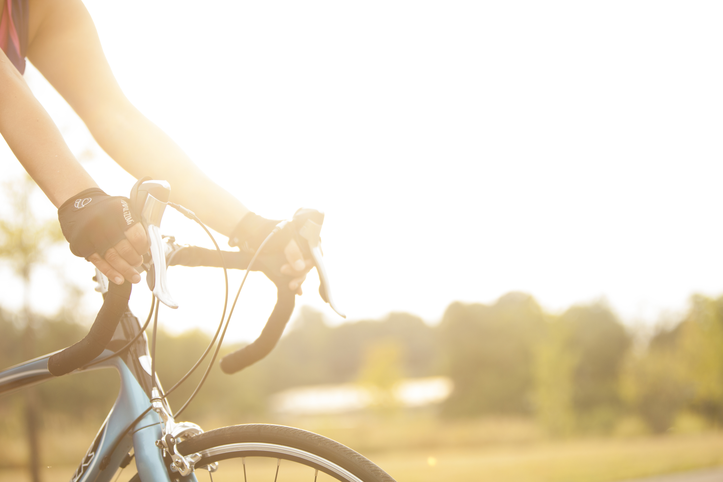 Photograph of cyclist on the Roanoke Greenway.