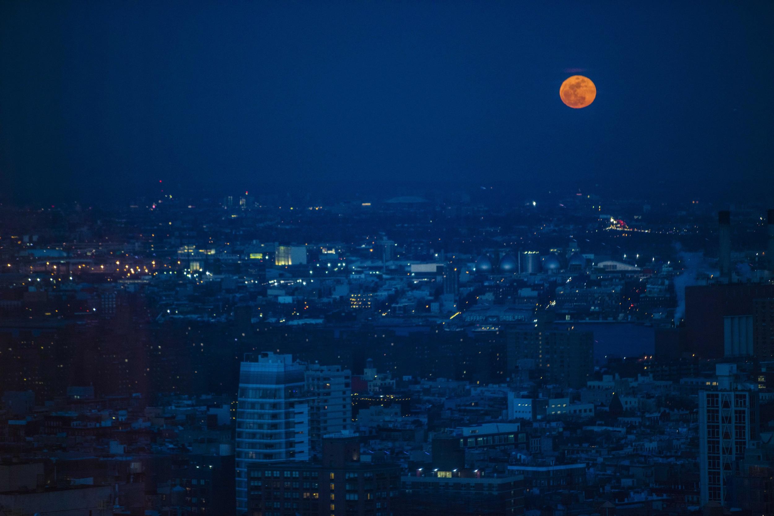 Edited image of New York City. By Brett Winter Lemon