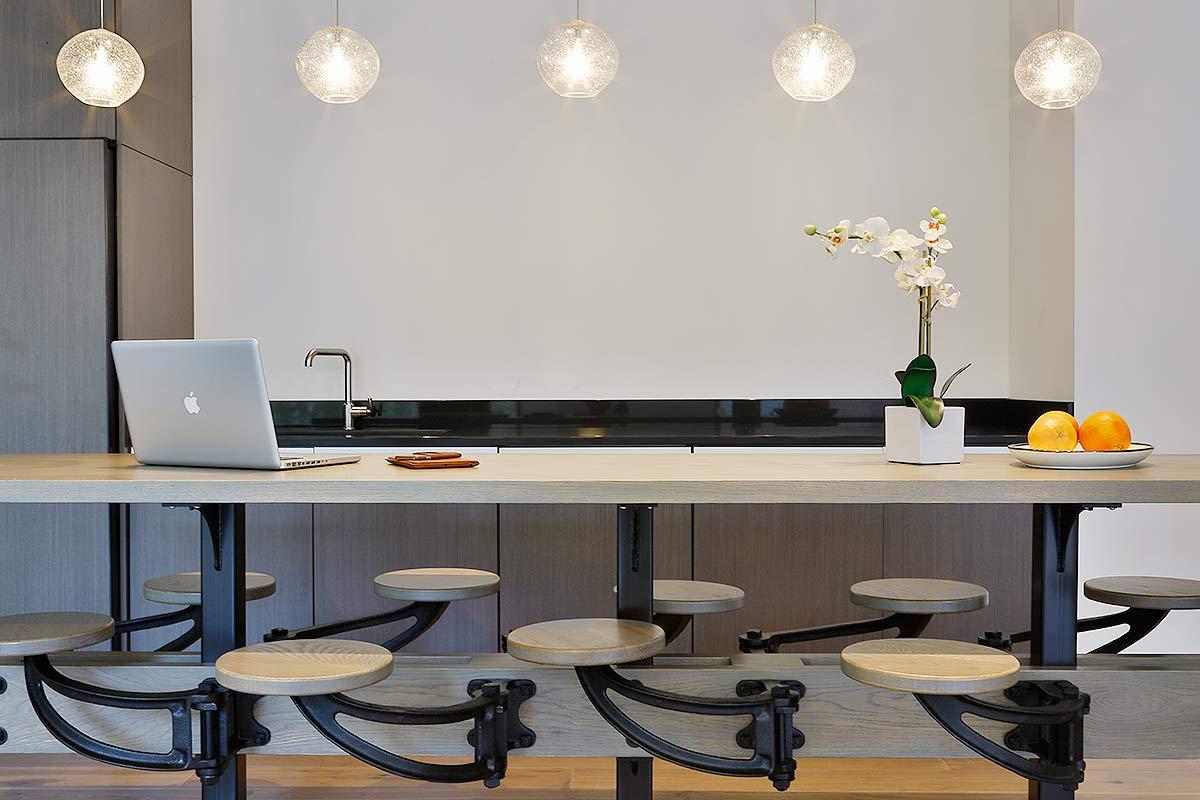 Very modern kitchen with sleek design.