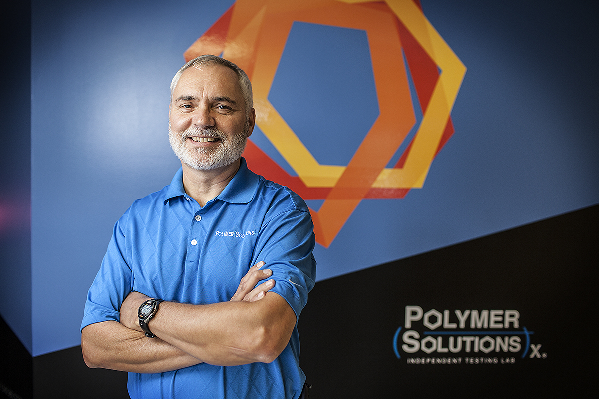 Executive portrait for Polymer Solutions in Blacksburg, VA.
