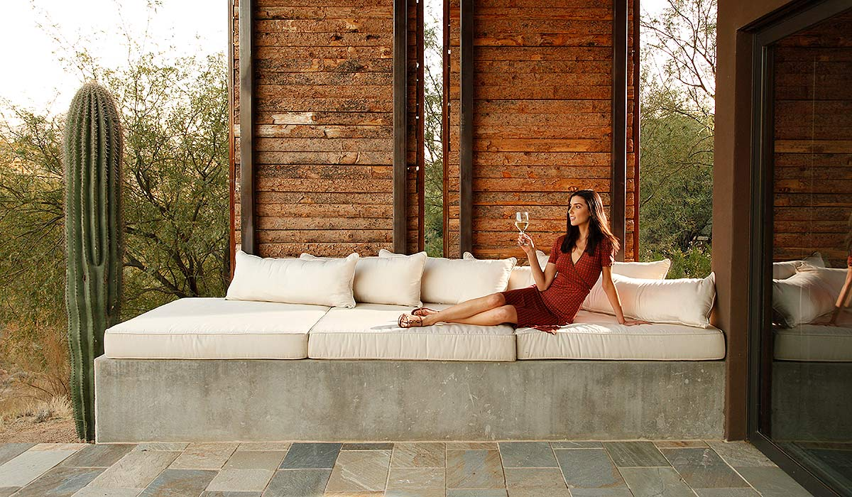 Lifestyle photograph for a resort and spa.