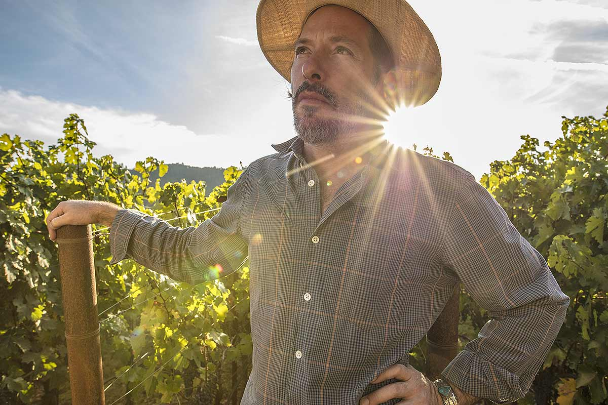 Napa Sonoma winemake portrait.