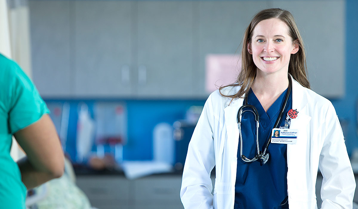 Portrait of a doctor in a medical environment by commercial photographer Brett Winter Lemon.