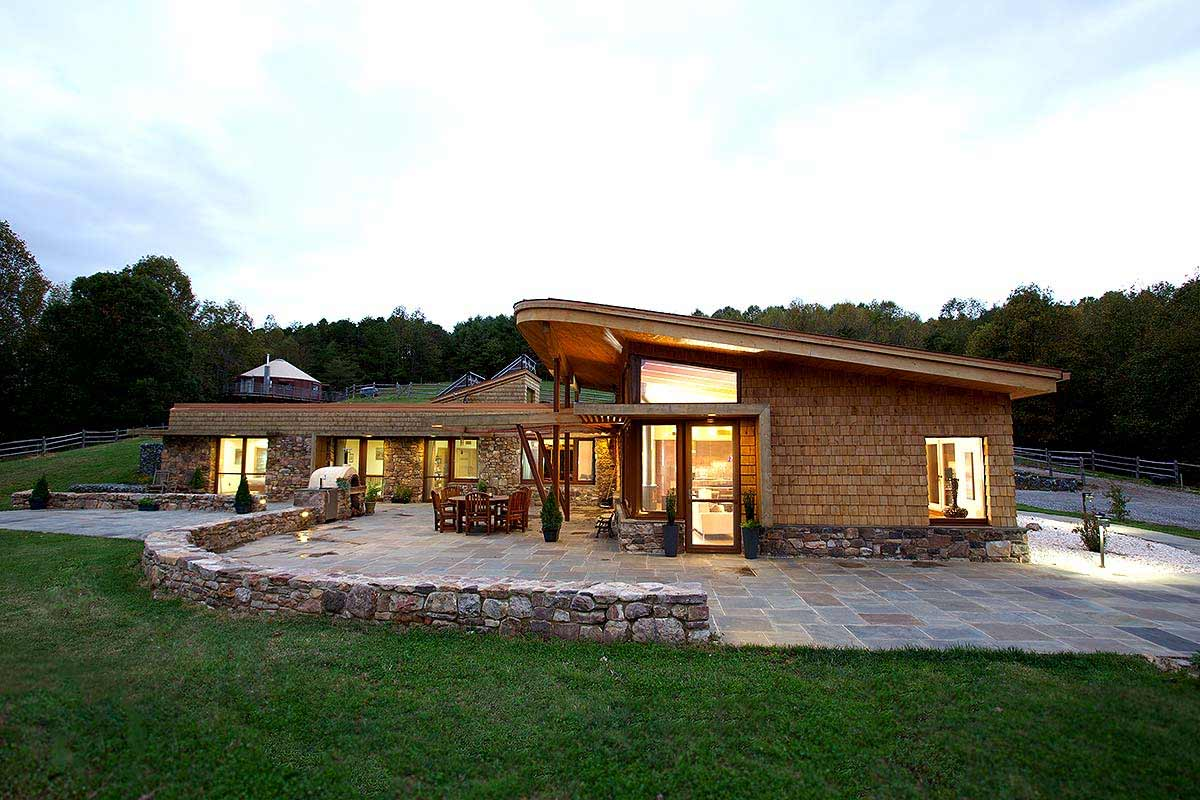 Exterior photograph of a home for an architect.