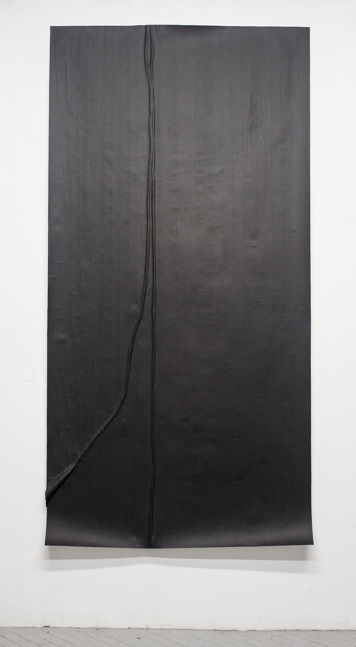 Study For a Microphone (Variation 8)  ,   2014, Gaffers tape, muslin, epoxy,  48.125'' x 95.75''