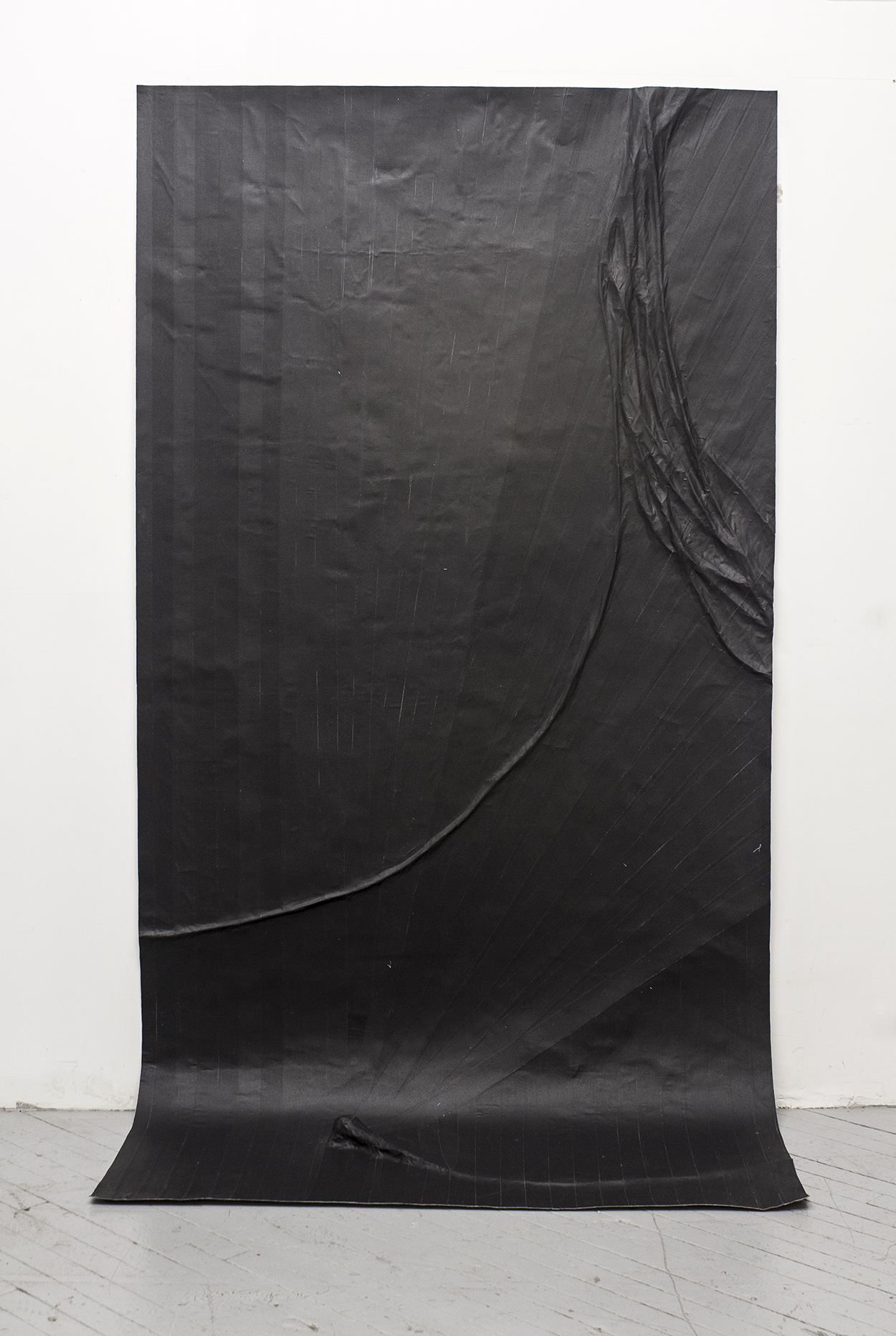 Study For A Microphone (Variation 6)  , 2014, Gaffers tape, muslin, epoxy,  48.5'' x 96''