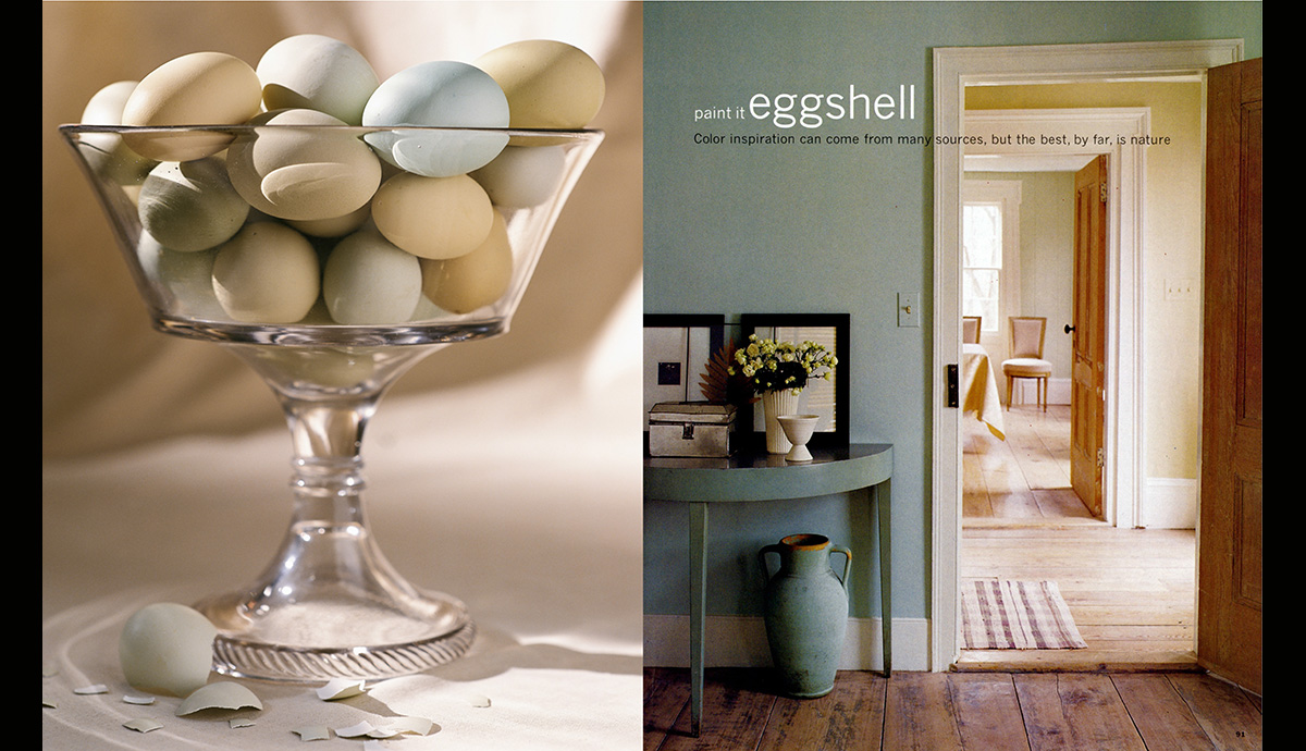 Paint it Eggshell, our first paint story was the basis of the Kmart paint colors developed a year later