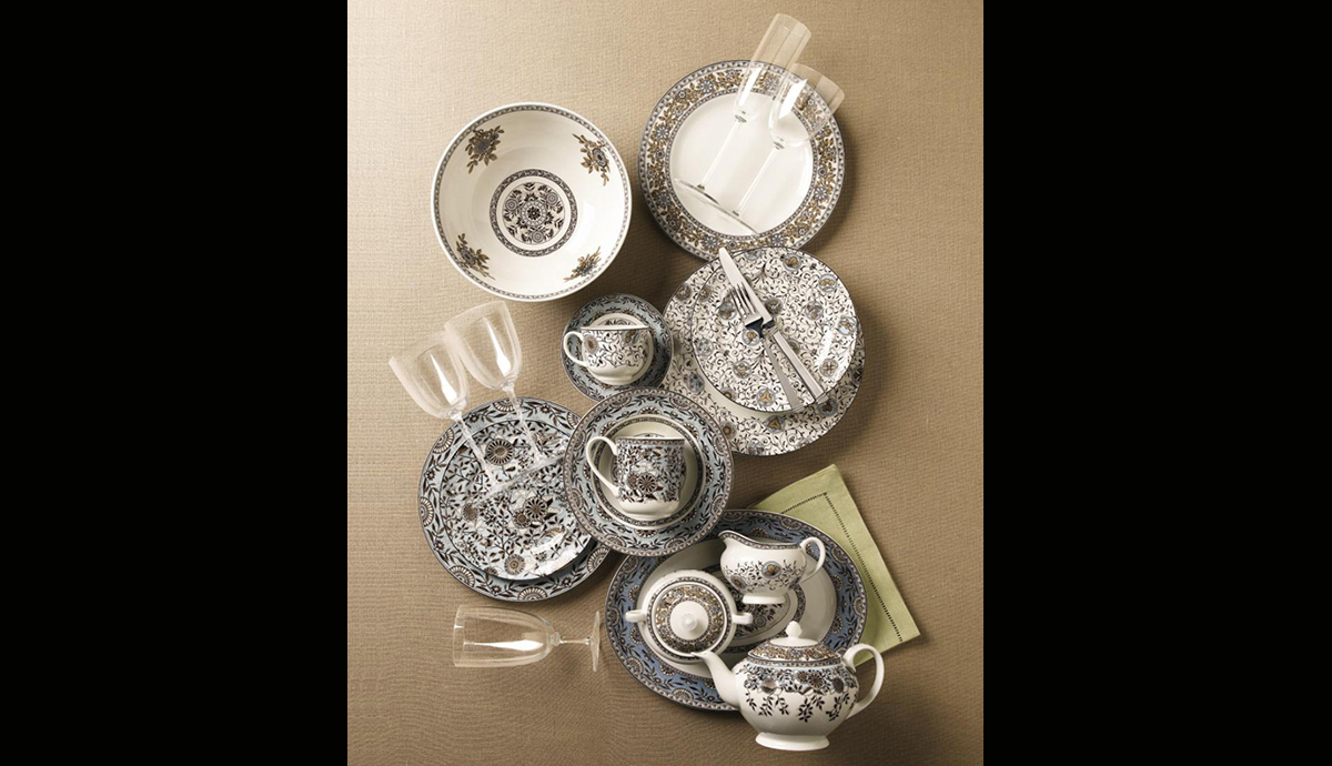 Martha Stewart Fine China Collection for Wedgwood, Mix and Match Transferware Pattern at Macy's