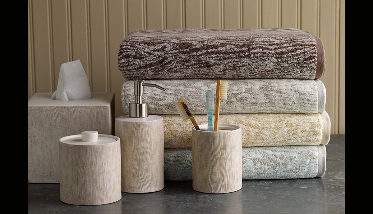 Martha Stewart Collection Bed and Bath for Macy's: Faux Bois towels