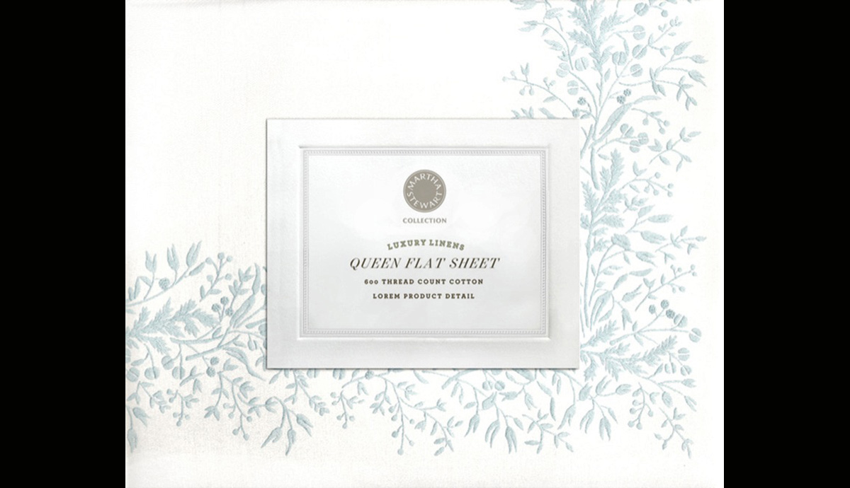 Martha Stewart Collection for Macy's Sheet Packaging