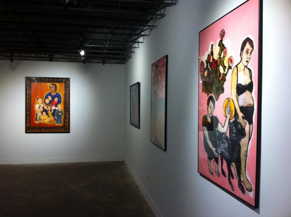 The gallery exhibits established and emerging artists. Pictured here: Adrienne Lesperance.