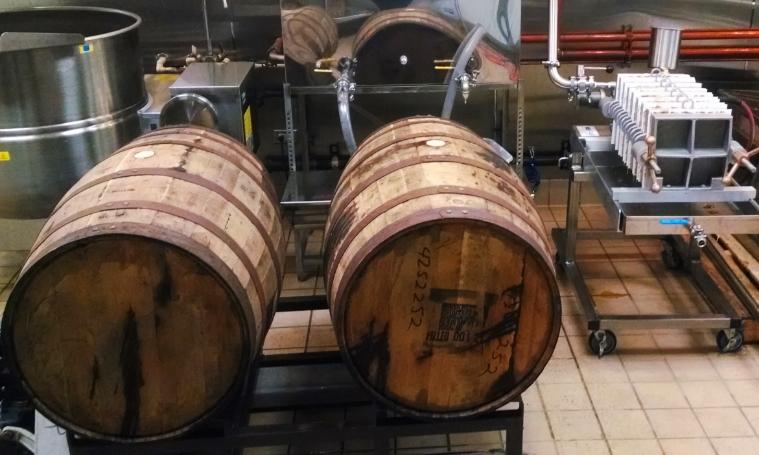 Filling Bourbon Barrels