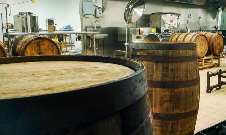 3 B&E's Trees Bourbon Barrel Aged Maple Syrup Filling Barrels.jpg