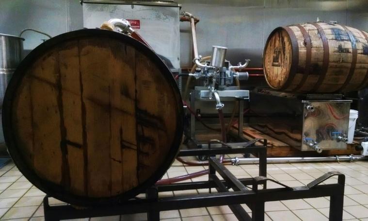 6 B&E's Trees Bourbon Barrel Aged Maple Syrup  Emptying Barrels.jpg