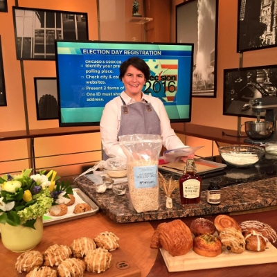 Our friends at Hewn Bakery in Evanston featured us as a part of their segment on  WGN TV Lunchbreak