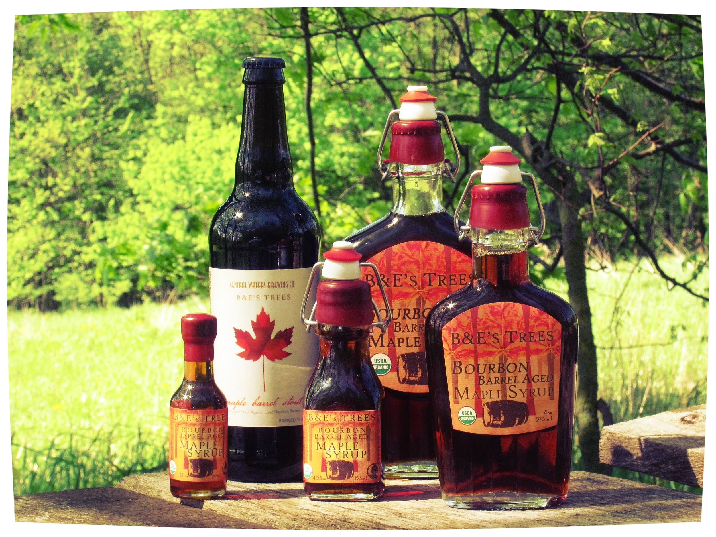 Bourbon Barrel Aged Maple Syrup!