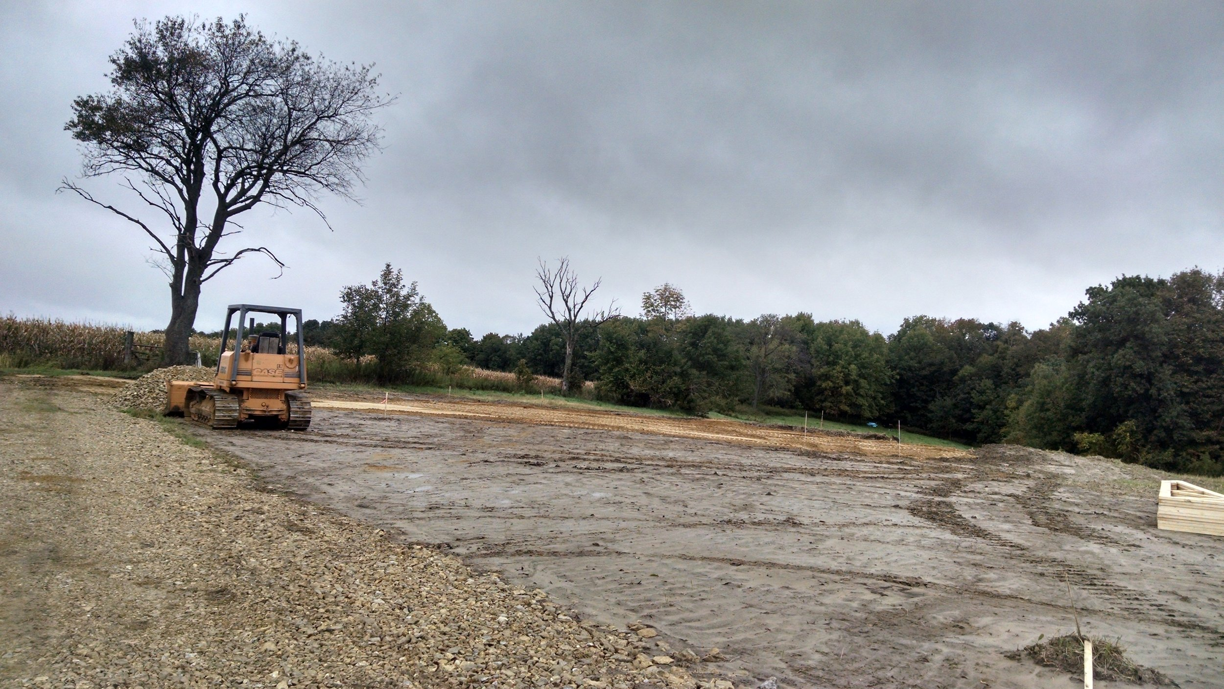 9.28.17.  Wet summer delayed construction