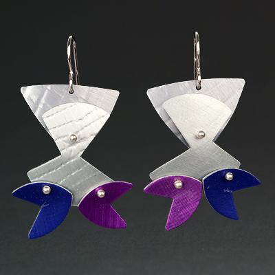 B - Grey, Silver, Purple, Violet
