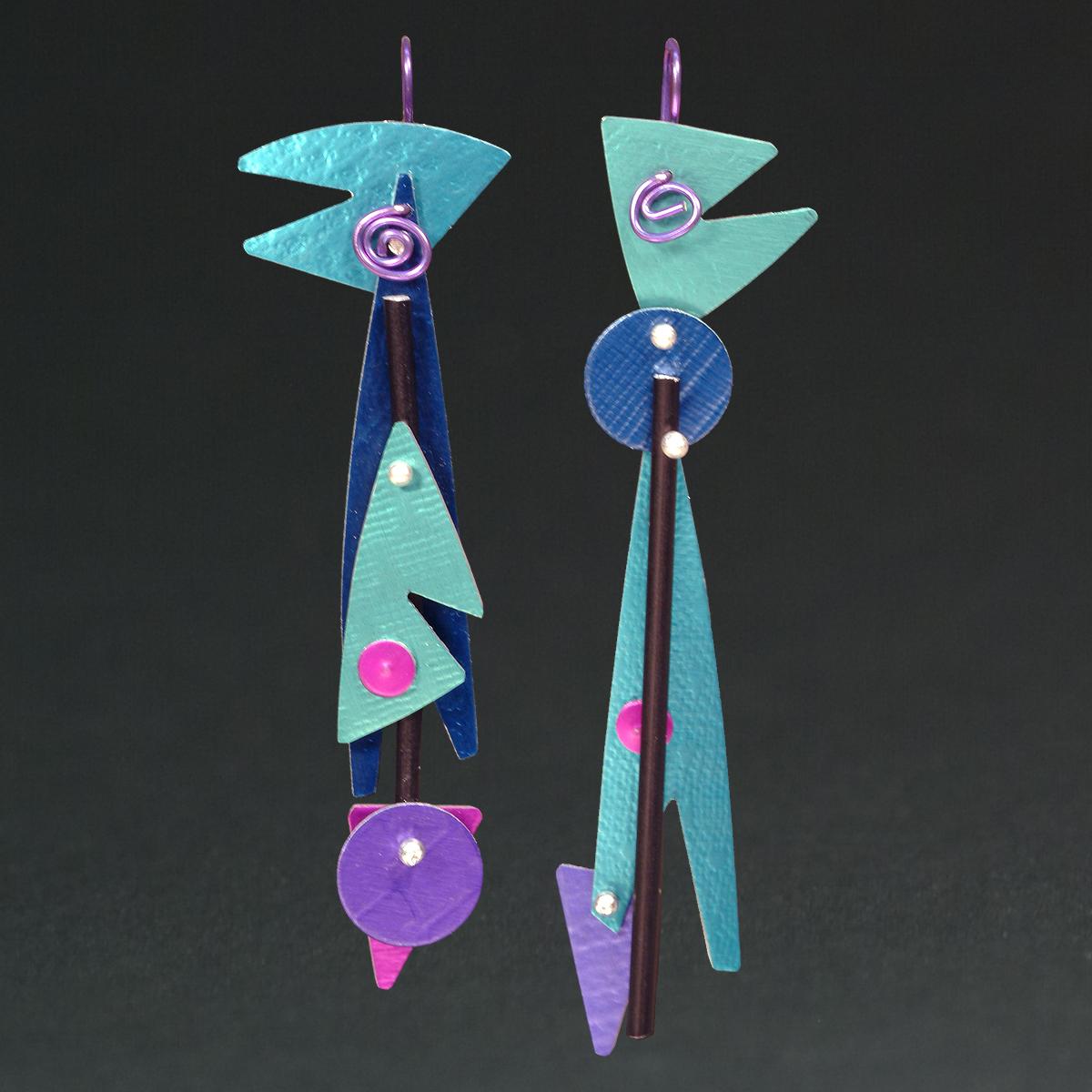 F - Aqua, Royal, Turq., Purple