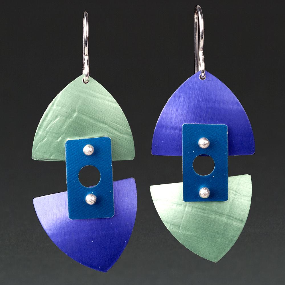 B - Lime, Purple, Royal