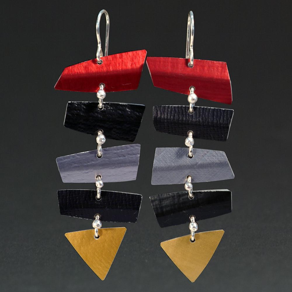 C- Red, Black, Grey, Gold