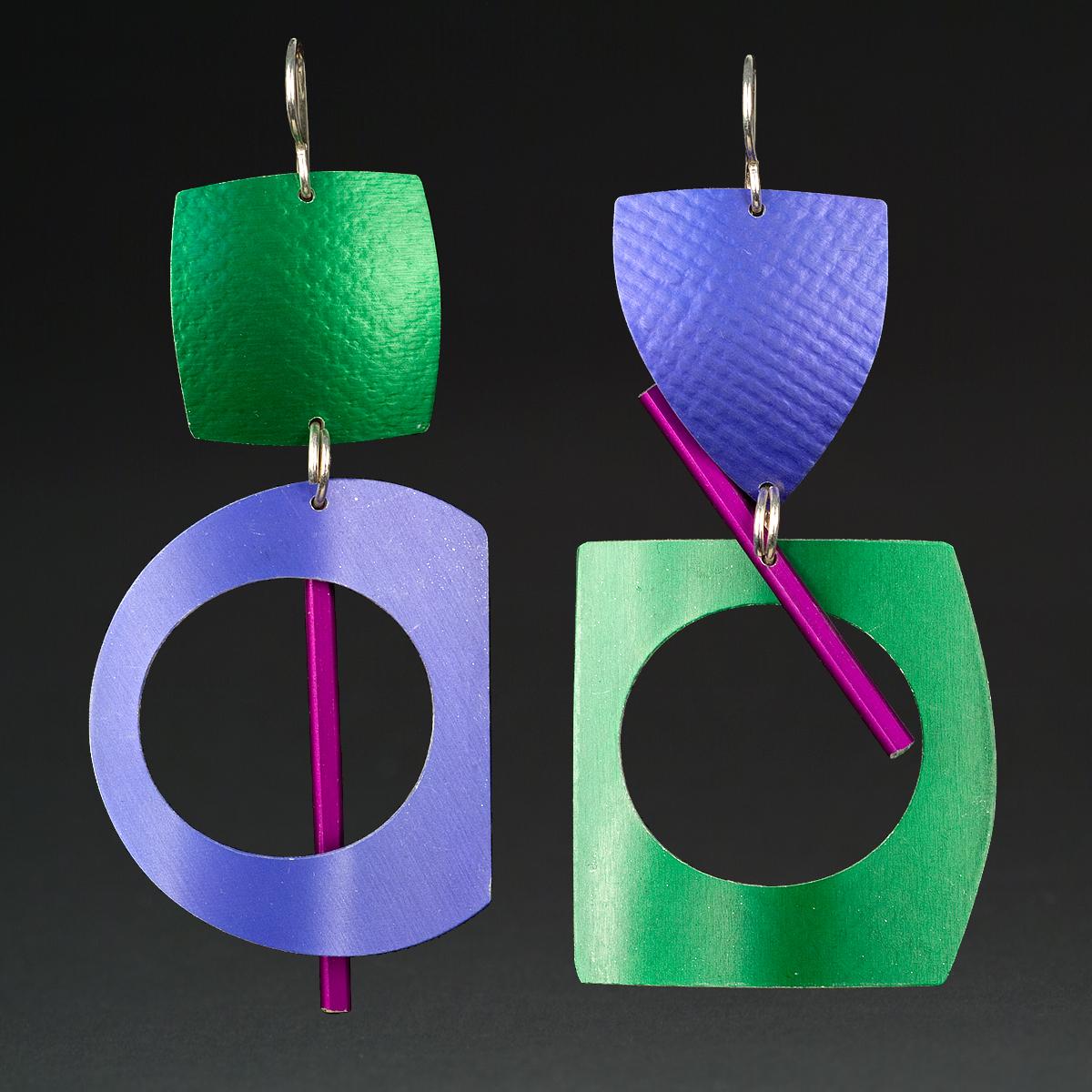 A - Green, Purple, Violet