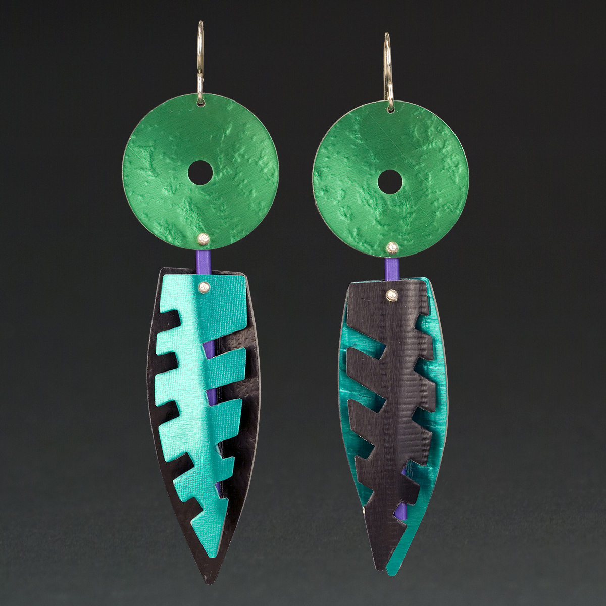 A - Green, Black, Turquoise