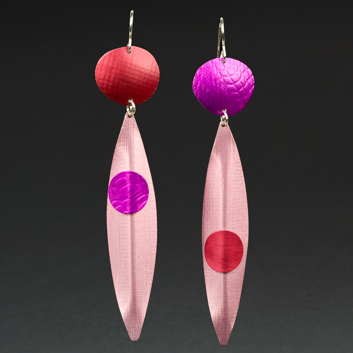 D - Red, Violet, Pink
