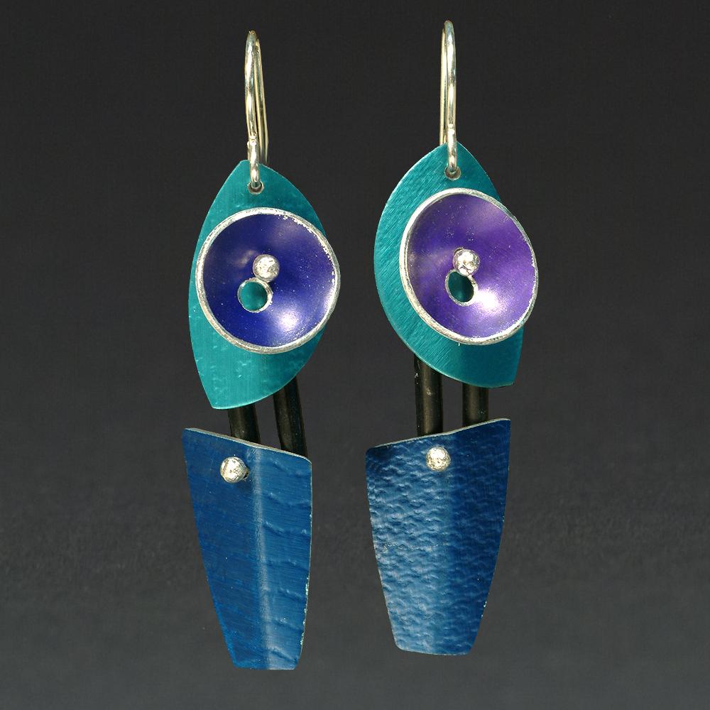 E - Turquoise, Purple, Royal