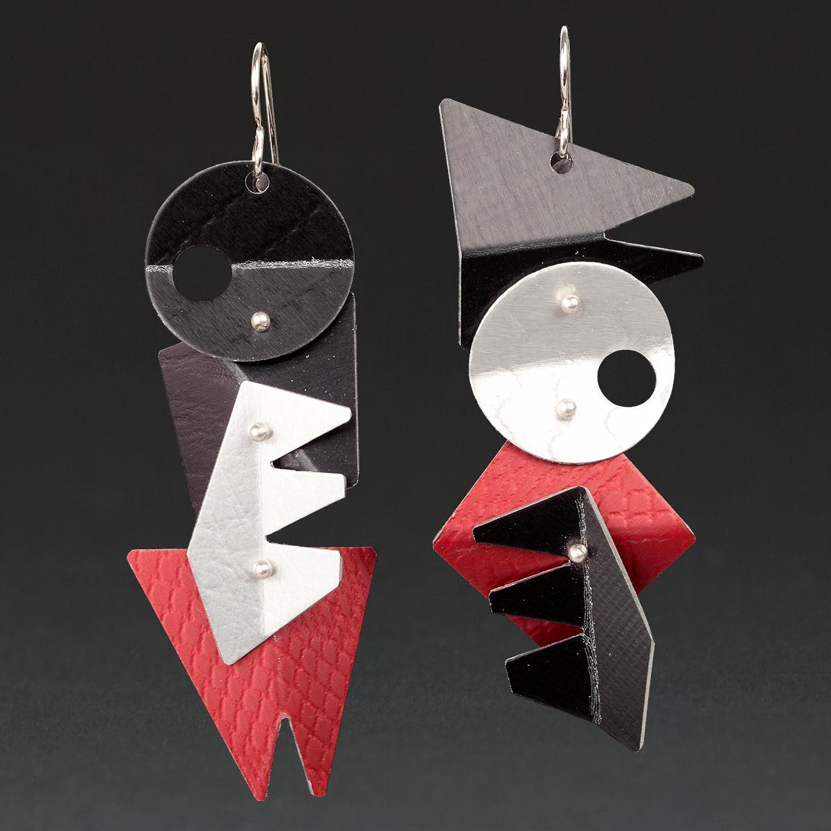 E - Black, Silver, Red