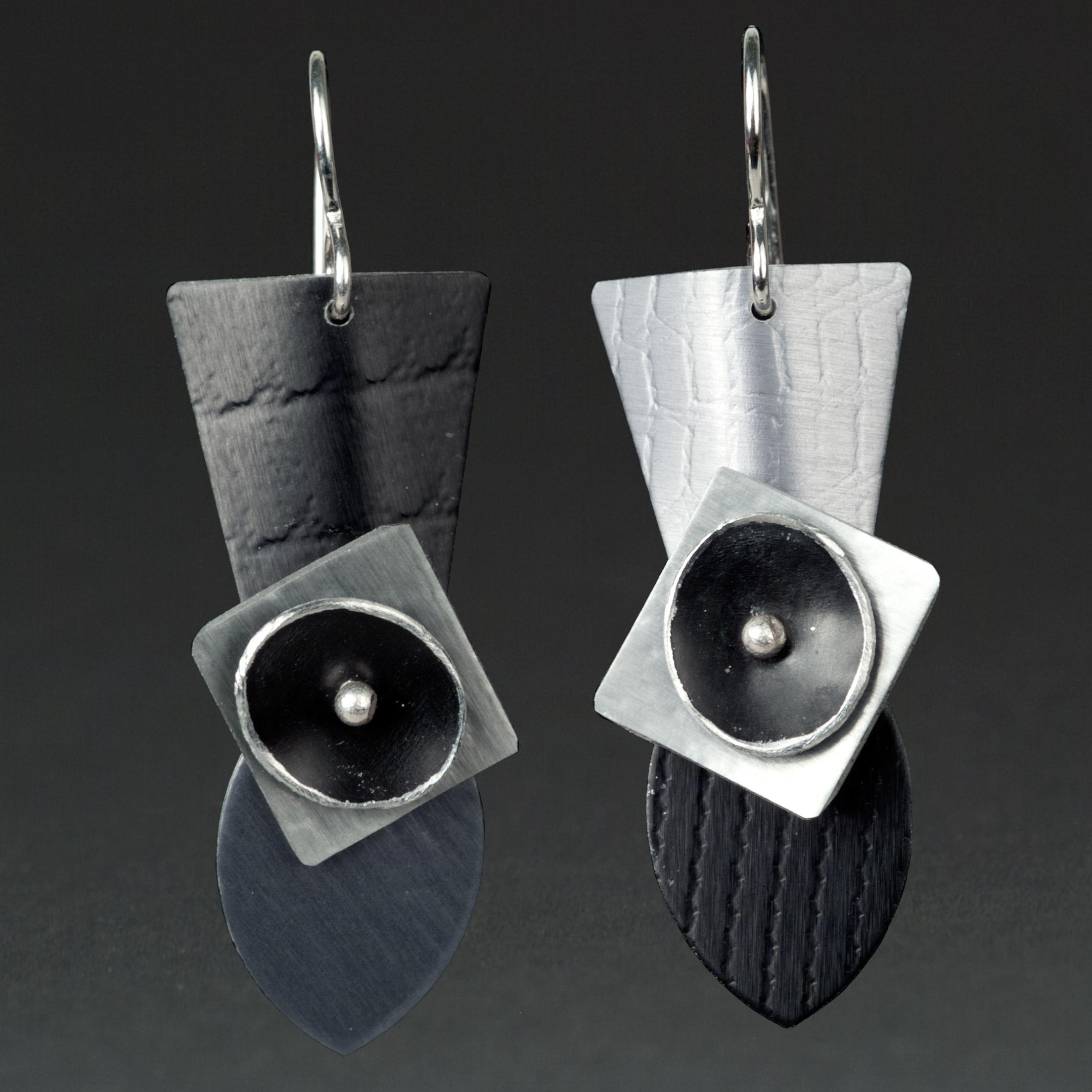 D - Black, Grey, Silver