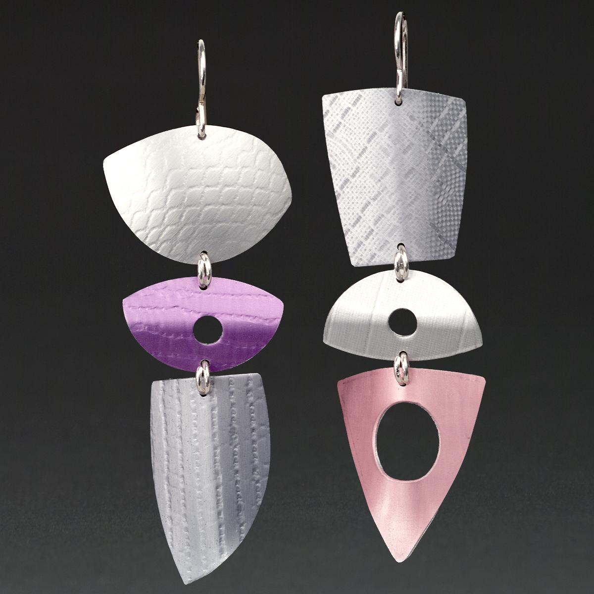 C- Silver, Fuchsia, Grey, Pink