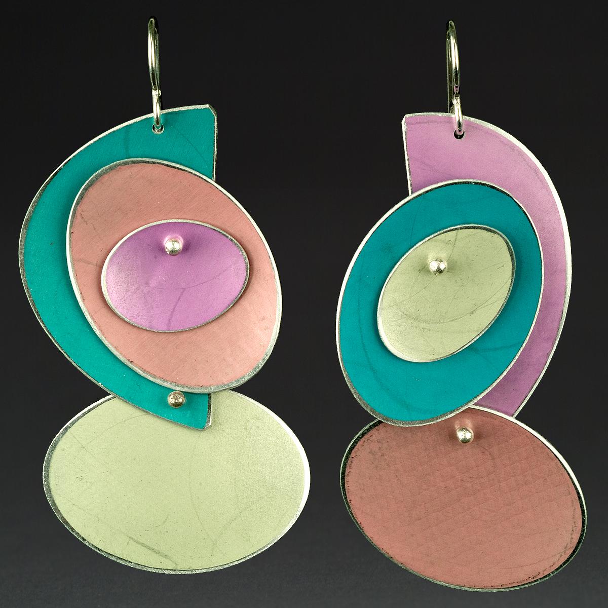 A - Turquoise, Orange, Chablis, Pink