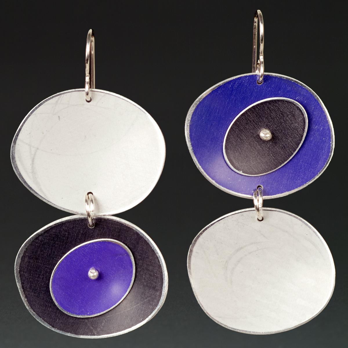 F - Silver, Purple, Black