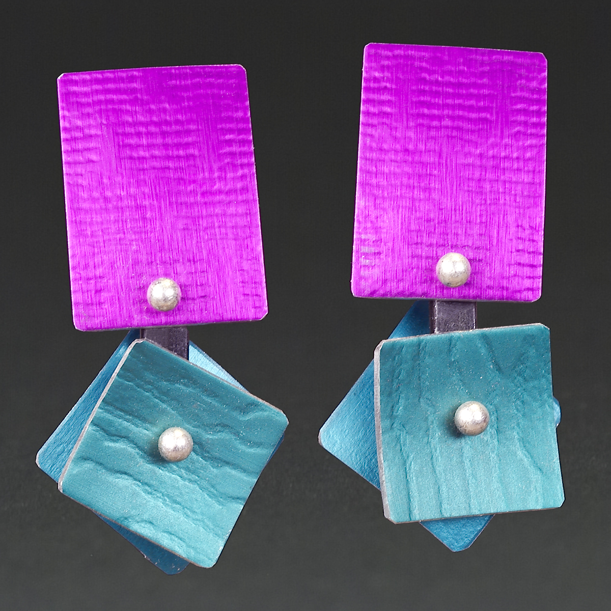 A - Violet, Aqua, Turquoise