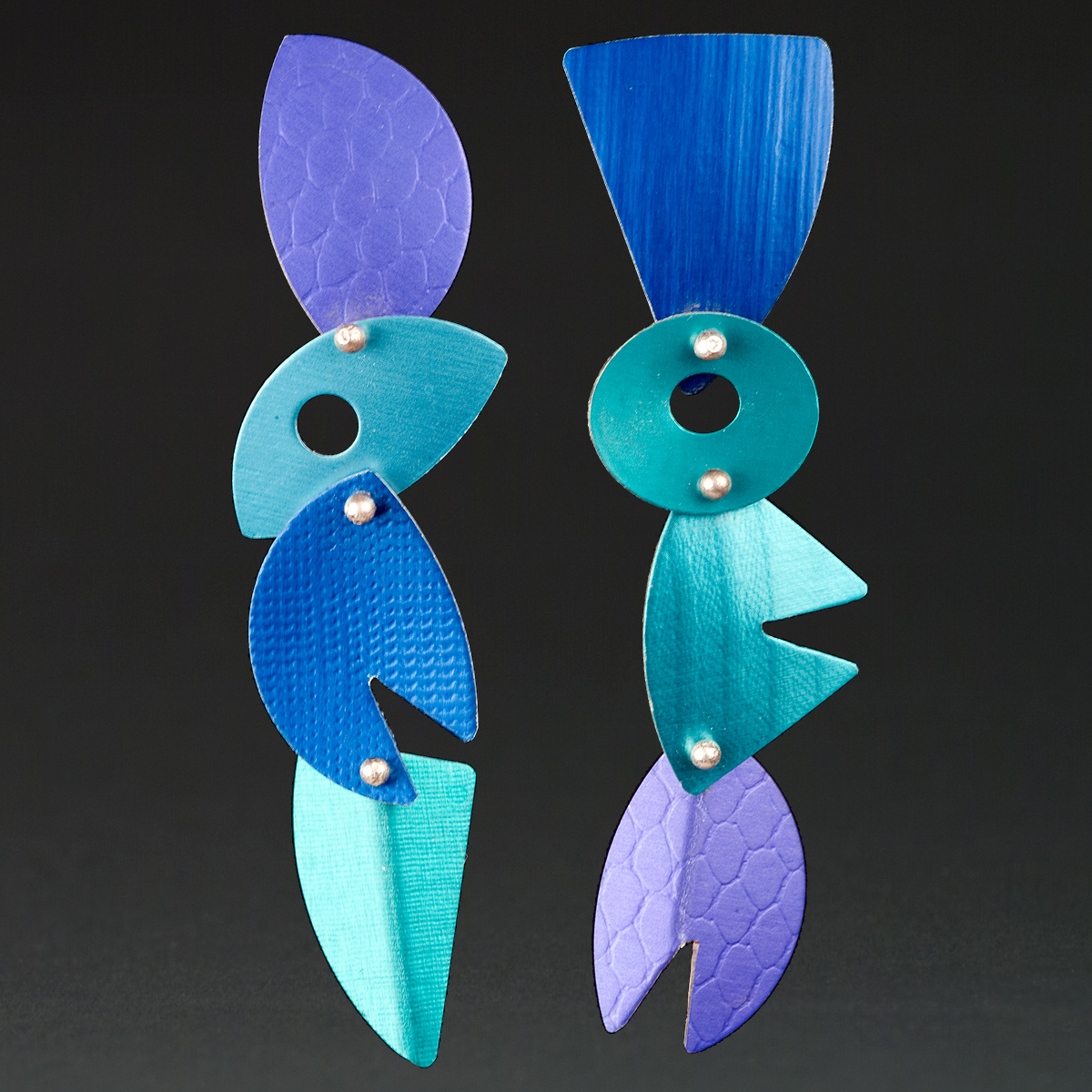 B - Purple, Royal, Aqua, Turquoise