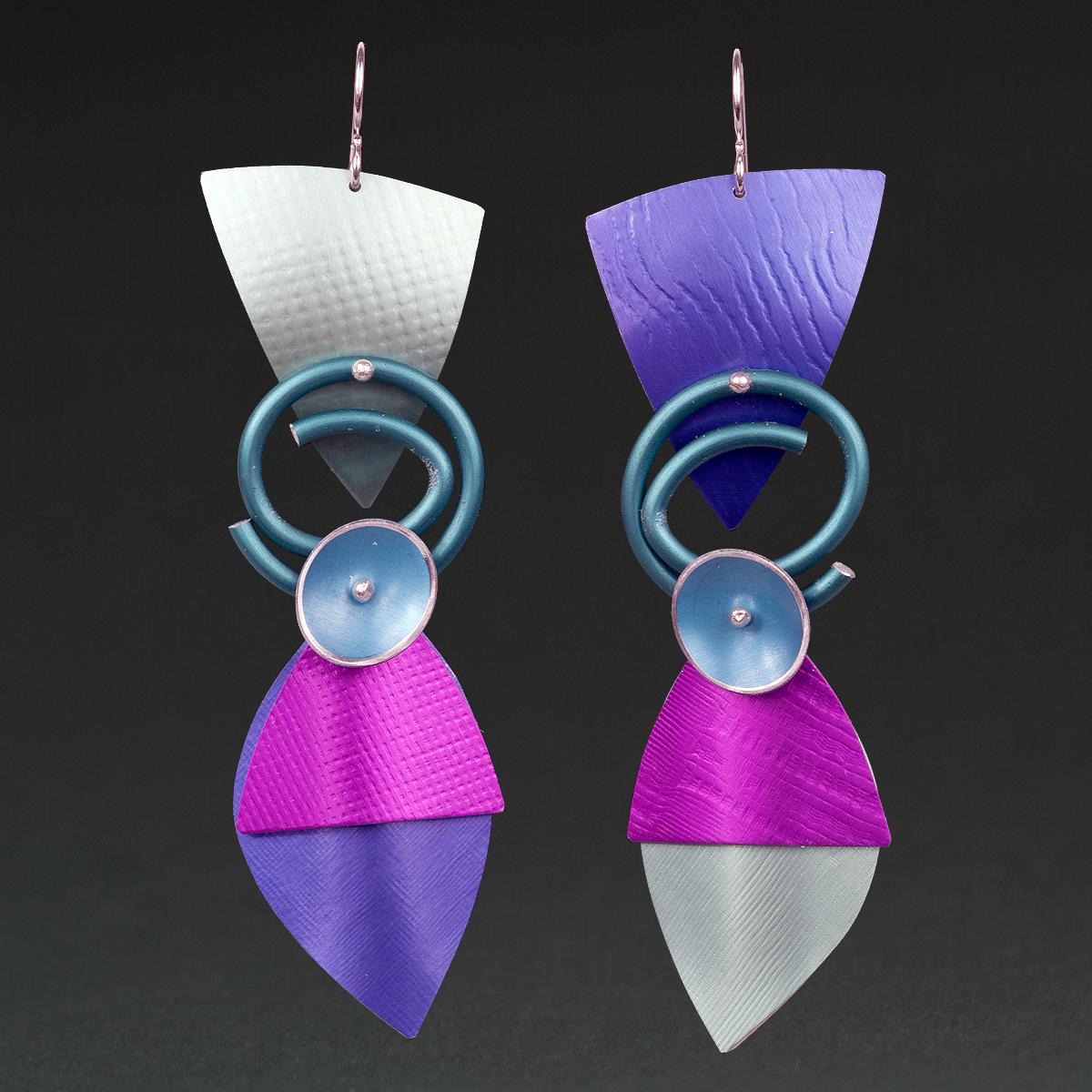 B - Silver, Purple, Violet