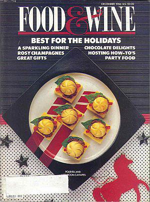 Food & Wine Magazine Dec. 1986