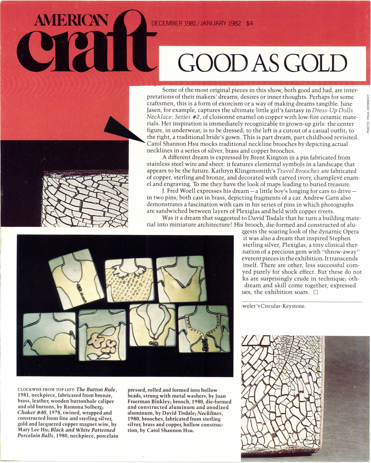 Good As Gold: Renwick Gallery Show, 1981, American Craft Magazine