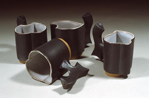 Stoneware Mugs: Handbuilt. c 1978